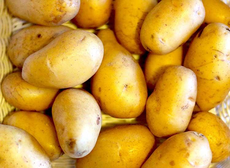 panier de légumes avec pommes de terre