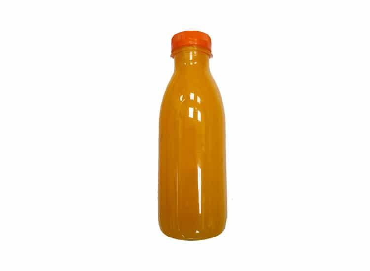 Jus d'oranges préssés au marché couvert d'Agen